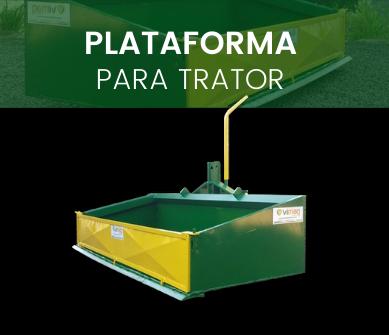 plataforma para trator
